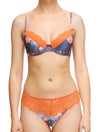 Lauma, Orange Lace String Tanga Panties, On Model Front, 69G61