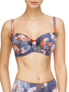 Lauma, Blue Print Underwired Bra, On Model Front, 69G20