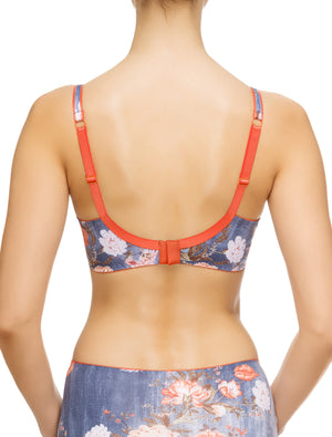 Lauma, Blue Print Underwired Bra, On Model Back, 69G20