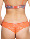 Lauma, Orange Lace String Tanga Panties, On Model Back, 69G61