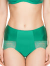 Lauma, Green High Waist Panties, On Model Front, 69H51