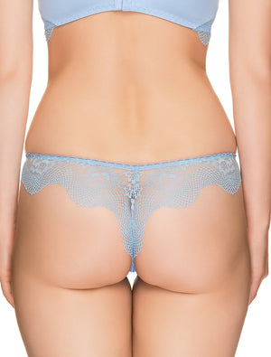 Lauma, Blue Lace String Tanga Panties, On Model Back, 69H61