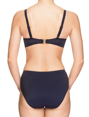 Lauma, Blue High Waist Bikini Bottom, On Model Back, 70H51