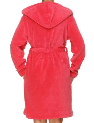 Lauma, Pink Soft Robe, On Model Back, 72D98