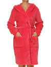 Lauma, Pink Soft Robe, On Model Front, 72D98