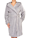 Lauma, Gray Soft Robe, On Model Front, 72D98