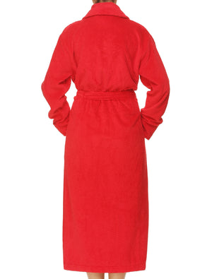 Lauma, Red Long Robe, On Model Back, 72D99