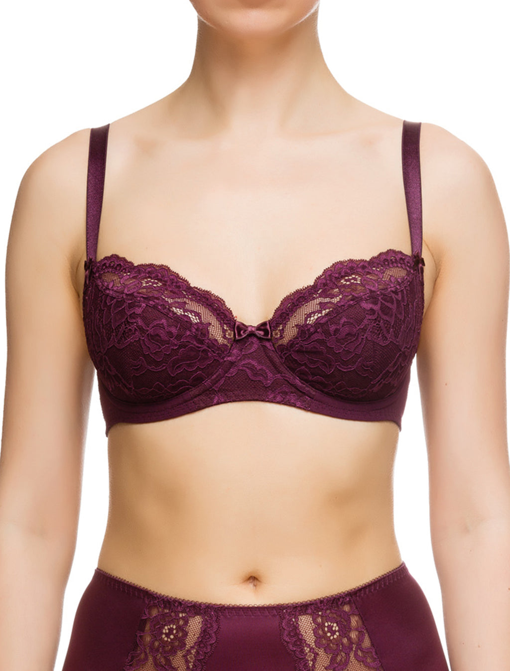 Lauma, Violet Underwired Non-padded Bra, On Model Front, 72F20