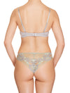 Lauma, Grey Lace Brazilian Briefs, On Model Back, 73H61