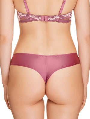 Lauma, Pink String Tanga Panties, On Model Back, 73H62