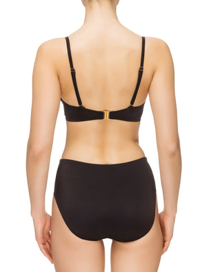 Lauma, Black Swimwear Bikini Top, On Model Back, 74G20