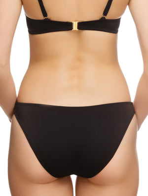 Lauma, Black Swimwear Bikini Bottom, On Model Back, 74G50