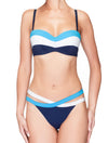Lauma, Blue Bandeau Bikini Top, On Model Front, 74H30