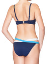 Lauma, Blue Bandeau Bikini Top, On Model Back, 74H30