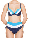 Lauma, Blue Push Up Bikini Top, On Model Front, 74H35
