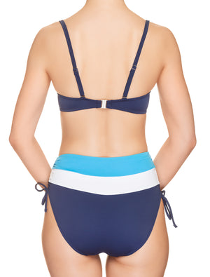 Lauma, Blue High Waist Bikini Bottoms, On Model Back, 74H51