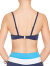 Lauma, Blue Push Up Bikini Top, On Model Back, 74H35
