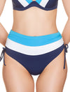 Lauma, Blue High Waist Bikini Bottoms, On Model Front, 74H51