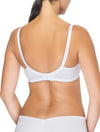 Lauma, White Uderwired Non-padded Cotton Nursing Bra, On Model Back, 75A20