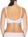 Lauma, White Wireless Padded Cotton Nursing Bra, On Model Back, 75A40