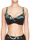 Lauma, Black Swimwear Bikini Top, On Model Front, 75H20