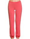 Lauma, Red Viscose Pyjama Pants, On Model Front, 76H58