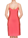 Lauma, Red Viscose Night Dress, On Model Front, 76H90