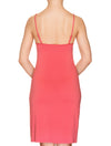 Lauma, Red Viscose Night Dress, On Model Back, 76H90