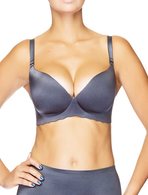 Invisible Seamless Wireless One Piece Push-Up T-Shirt Bra