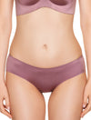 Lauma, Pink Seamless Mid Waist Hipster Panties, On Model Front, 77D53