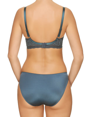 Lauma, Blue Lace Underwired Soft-cup Bra, On Model Back, 77G20