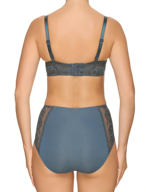 Lauma, Blue Lace Balconette Bra, On Model Back, 77G30