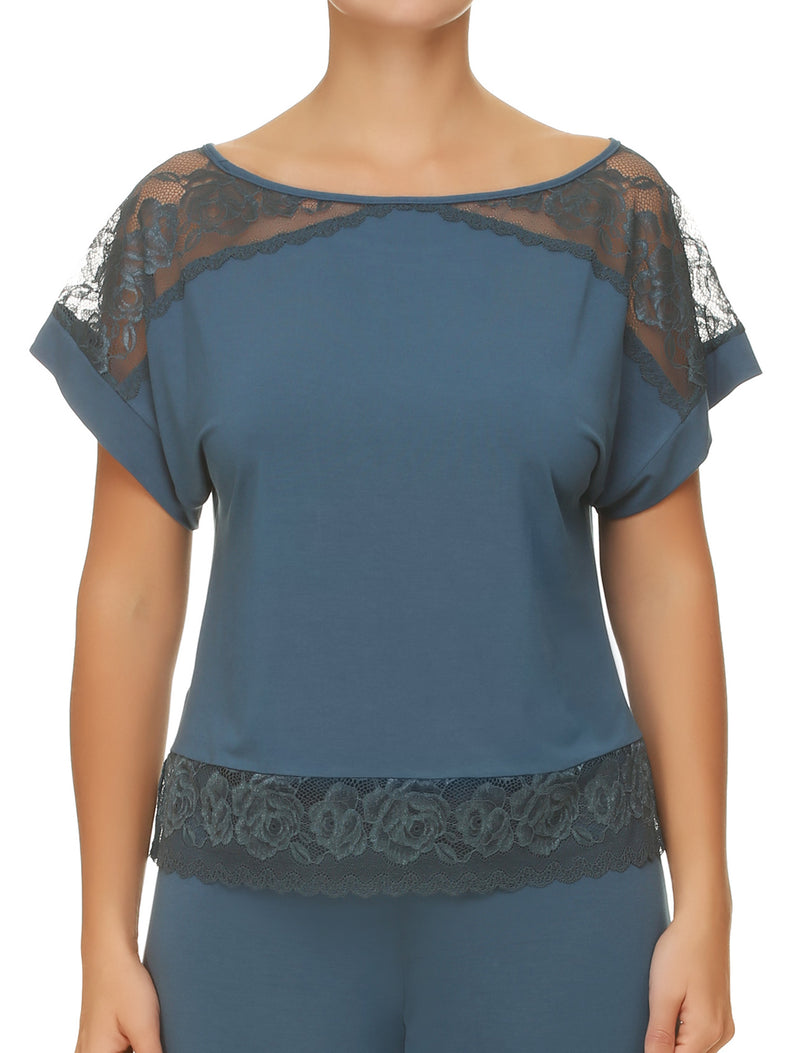 Madlen Pyjama Top With Lace Details