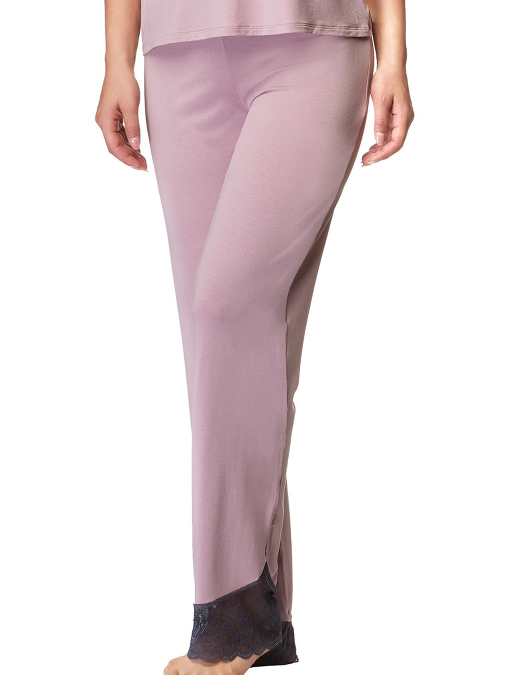 Lauma, Pink Pyjama Pants, On Model Front, 77H58