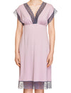 Lauma, Pink Viscose Nightdress, On Model Front, 77H90