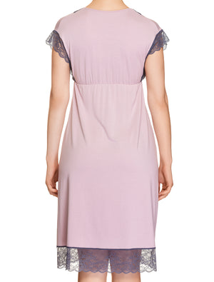 Lauma, Pink Viscose Nightdress, On Model Back, 77H90