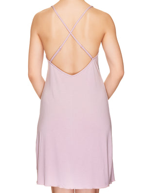 Lauma, Pink Viscose Nightdress, On Model Back, 77H91