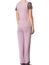 Lauma, Pink Pyjama Top, On Model Back, 77H92