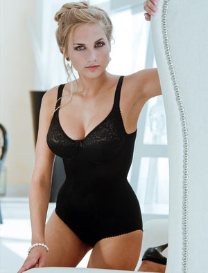 Lauma, Black Shapewear Bodysuit, On Model Front, 79700