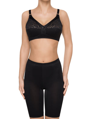 Lauma, Black Wireless Non-padded Bra, On model Front, 79900