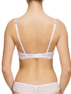 Lauma, White Moulded Push Up Bra, On Model Back, 82G35