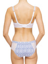 Lauma, White Half-padded Bra, On Model Back, 82G40
