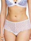 Lauma, White Lace Shorts Panties, On Model Front, 82G70