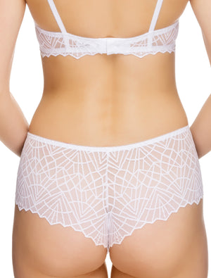 Lauma, White Lace Shorts Panties, On Model Back, 82G70