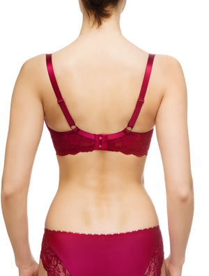 Lauma, Red Non-padded Lace Bra, On Model Back, 83G20