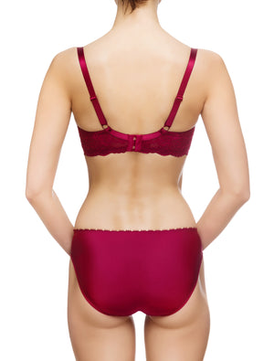 Lauma, Red Mid Waist Panties, On Model Back, 83G52