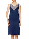 Lauma, Blue Silky Satin Night Dress, On Model Front, 84H91