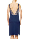 Lauma, Blue Silky Satin Night Dress, On Model Back, 84H91