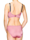 Lauma, Pink Underwired Half-Padded Bra, On Model Back. 88H40