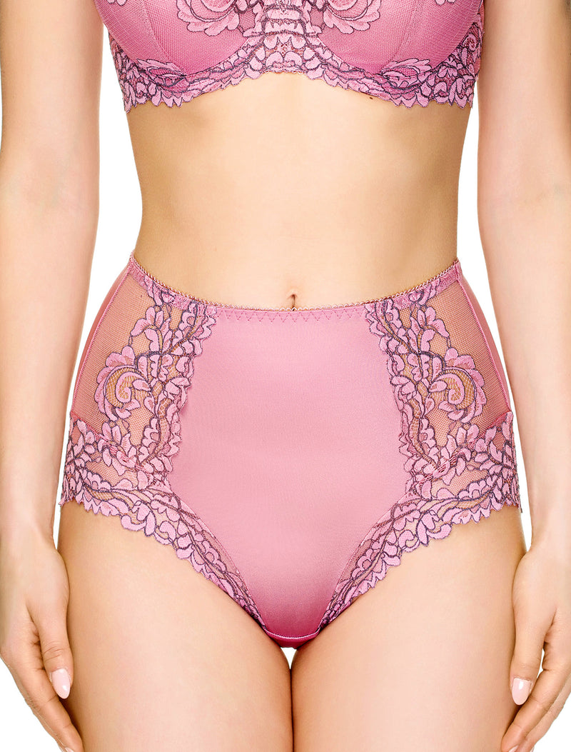 Lauma, Pink High Waist Panties, On Model Front. 88H51